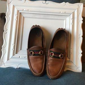 36e94abf62a Gucci. Gucci Women s Leather Web Horsebit Loafers